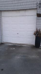 2 Garage doors. 9x7 and 9×10