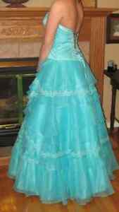 Aqua grad dress for sale