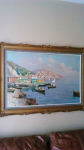 """Salerno Bay Shore"" Oil Painting"