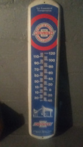 Vintage Antique Chevrolet Dealership Wall Thermometer by Taylor