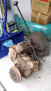 3 speed transmission and transfer case