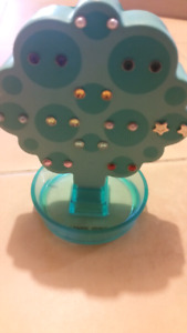 American Girl Doll Earring tree with 11 pairs of earrings