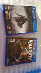 PS4 Console and 2 games (reduced price)