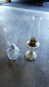 Hurricane Lamps--pair