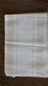 NEW White Cotton Placemats with Gold Threading  ** REDUCED ** Kawartha Lakes Peterborough Area image 1