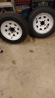 5.3 x 12 TRAILER TIRES WITH RIMS