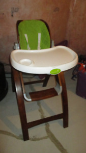Wooden Baby Toddler High Chair w/ Removable Tables (Original$200