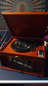 Stylish Crosley record and CD player