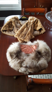 Fox Wrap and Mink scarf