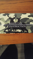 White Tail construction