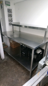Stainless steel work table (restaurant grade)