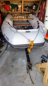LODESTAR NS 430 inflatable boat and trailer trade smaller boat