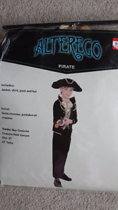 Alterego Pirate toddler Halloween costume size 4T