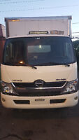 TRUCK CAMION HINO 2013 SILVERNIGHT WITH 17FT BOX