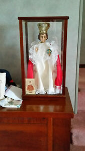 Cardinal Francis Statue in Display Case with ID card