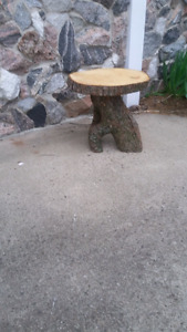 White pine and elhm stump tables