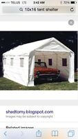 10x16 tent shelter