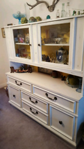 Cream and Yellow Buffet/Hutch