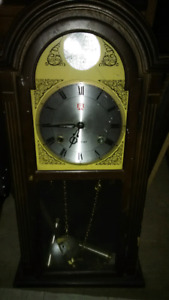 2 foot wall mount Grandfather Clock vintage antique
