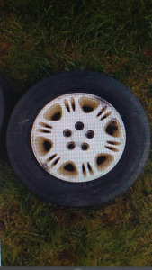 """14"""" 195-70 rims and tires"""