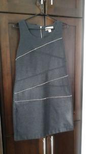 Michael Kors grey zipper dress