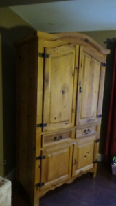 Rustic armoire and coffee table - price reduced