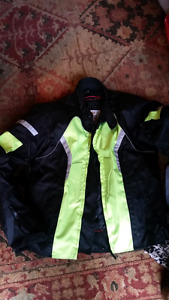 Padded motorcycle jacket size large