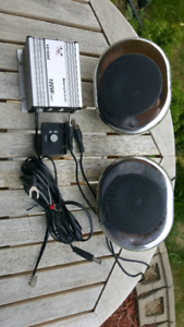 Motorcycle stereo amp and speakers