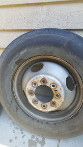 Dodge dually rims and rubber