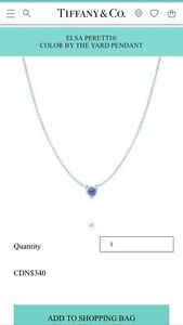 T&CO COLOR BY THE YARD TANZANITE PENDANT NECKLACE - $275 OBO