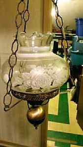 Beautiful, vintage, hanging, electric, chandelier style light. N