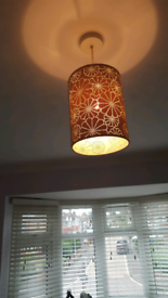 Cream ceiling lamp shade
