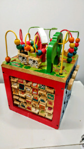 Wooden Todler Activity Cube (used)