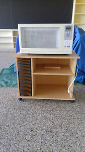 Microwave with stand 40.00