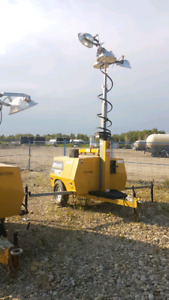20kw 3phase light tower with hydraulic lights