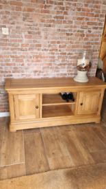 Solid oak Tv cabinet sideboard