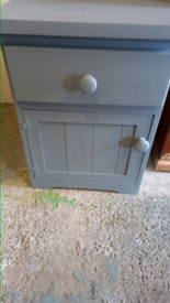 Upcycled bedside cupboard