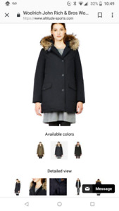 BNWT Woolrich John Rich & Bros Women's Winter Coat- Canada Goose