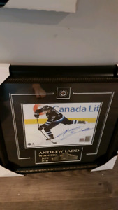 Signed Andrew Ladd frameworth