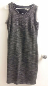 Nygaard studded collar shift dress nwt