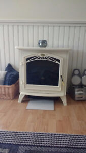 Cream Colour Electric Fireplace