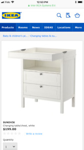 Ikea changing table&Diaper Pail