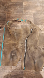 Leather Horse-riding chaps.  Women's Med.