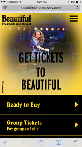 Carole King Beautiful - July 8th 2 p.m.