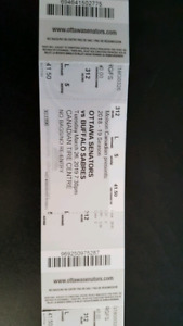 Ottawa Senators Tickets (3)