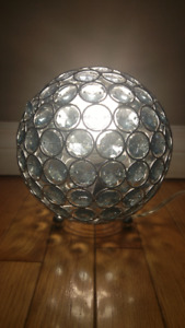Turquoise Crystal Ball Table Lamp