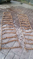 Ice chains for Massey or Ferguson Tractor