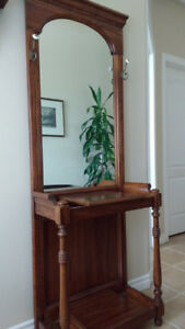 Coat rack/Mirror/ Table combo