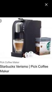 Starbucks verismo coffee pad maker