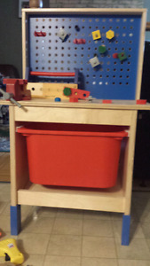 Kids workbench and 24 plus additional pieces
